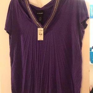 NWT purple Lane Bryant beaded shirt